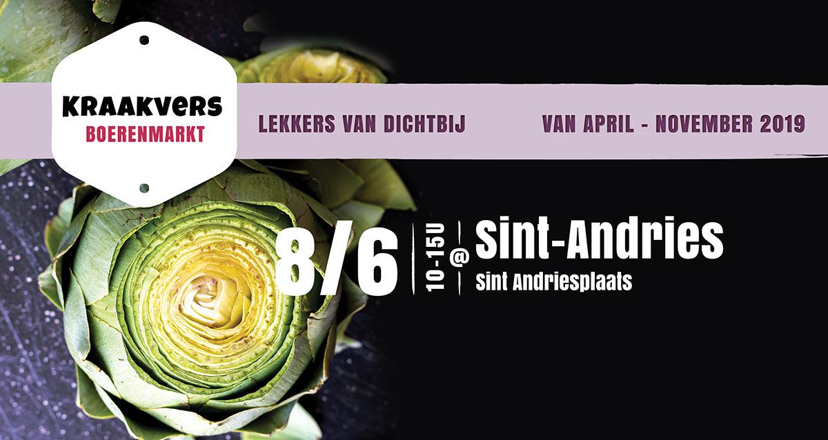 Kraakver Boerenmarkt Sint-Andries juni 2019